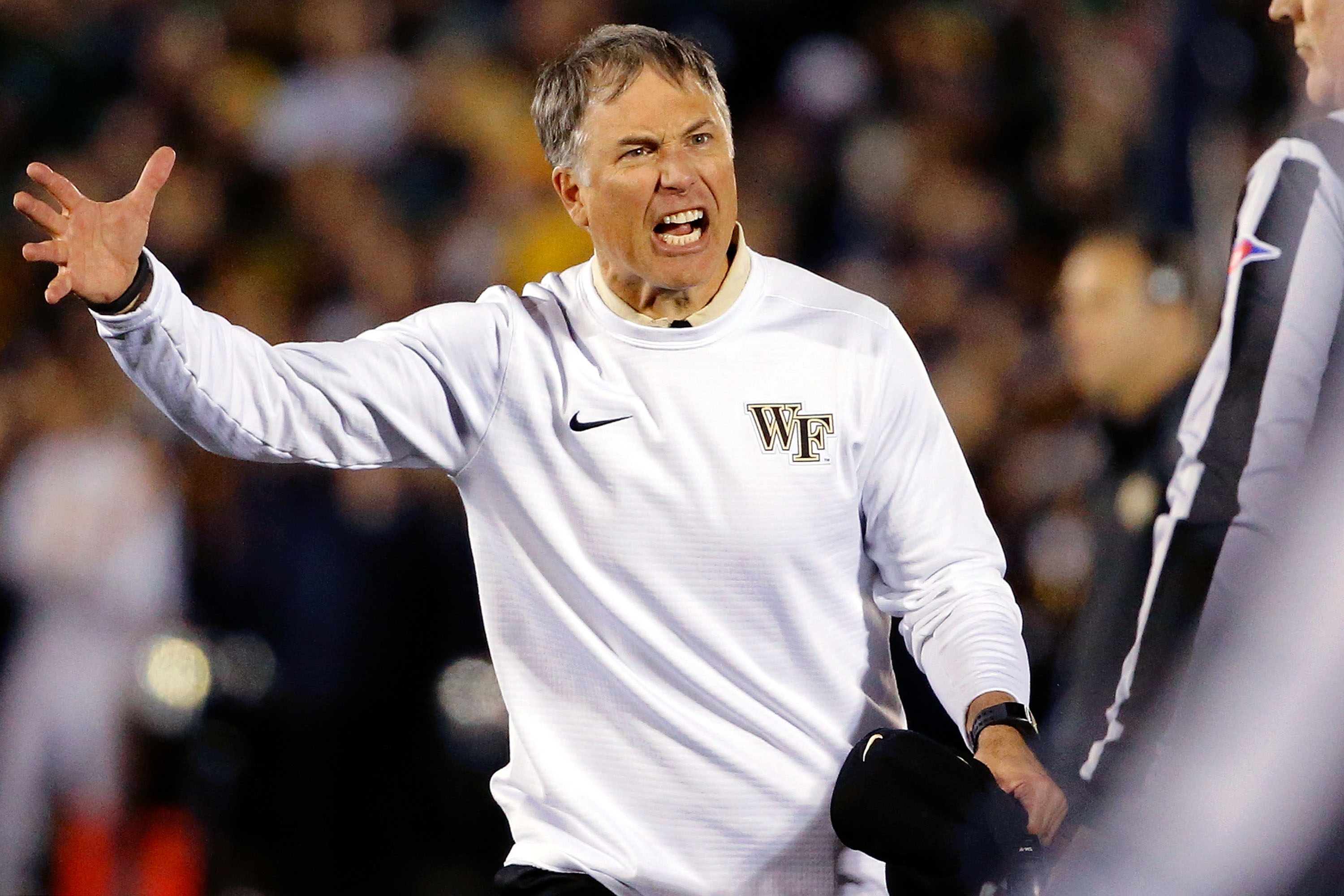 Wake Forest coach and Youngstown native Dave Clawson. Photo by Jon Durr/Getty Images)  (Photo by Jon Durr/Getty Images)