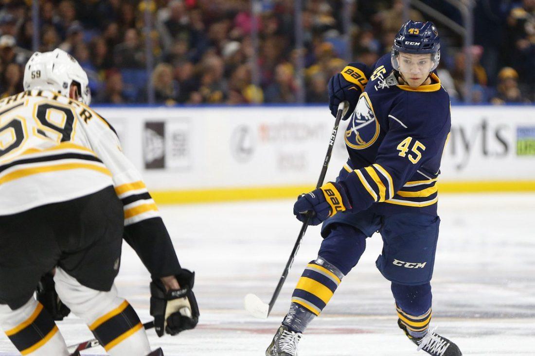 Brendan Guhle had a three-game look in the NHL last season (Mark Mulville/Buffalo News file photo).