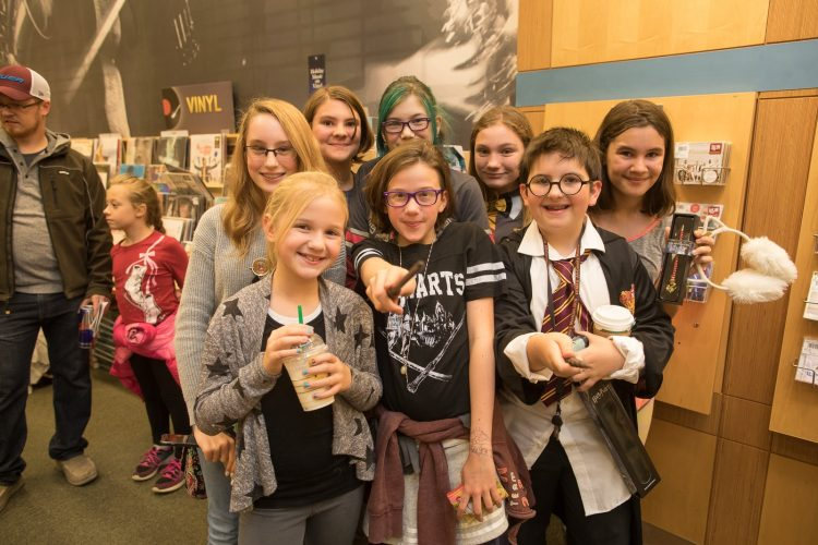 Smiles at Harry Potter Magical Ball at Barnes & Noble