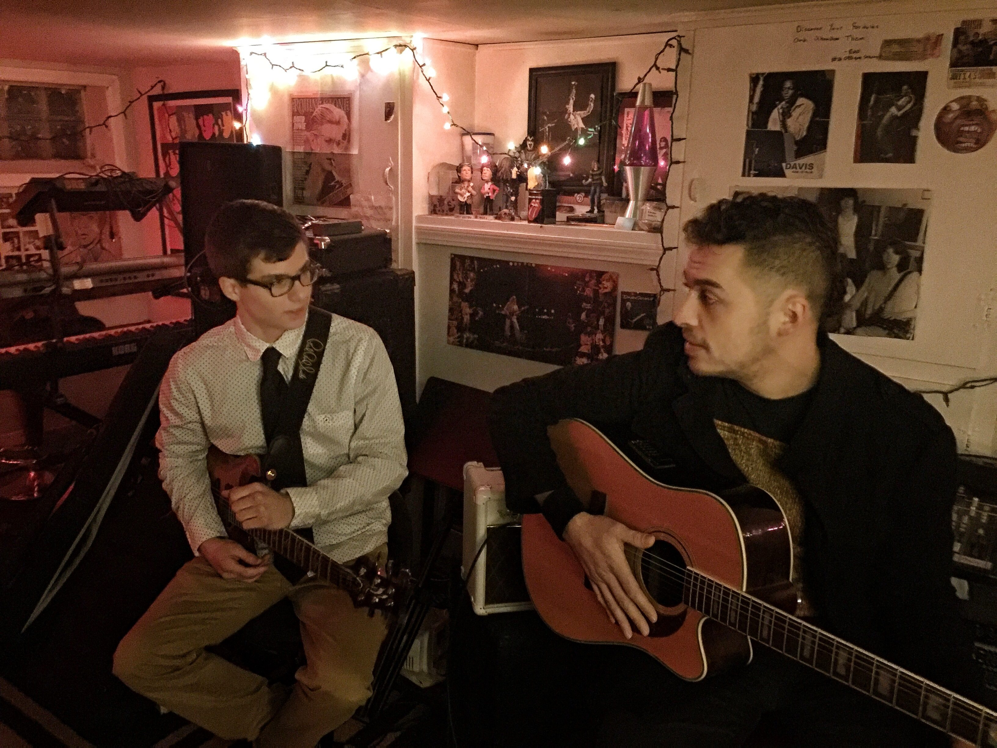 Hayden Fogle and Vin DeRosa share a jam and a chat in News Critic Jeff Miers' basement studio.