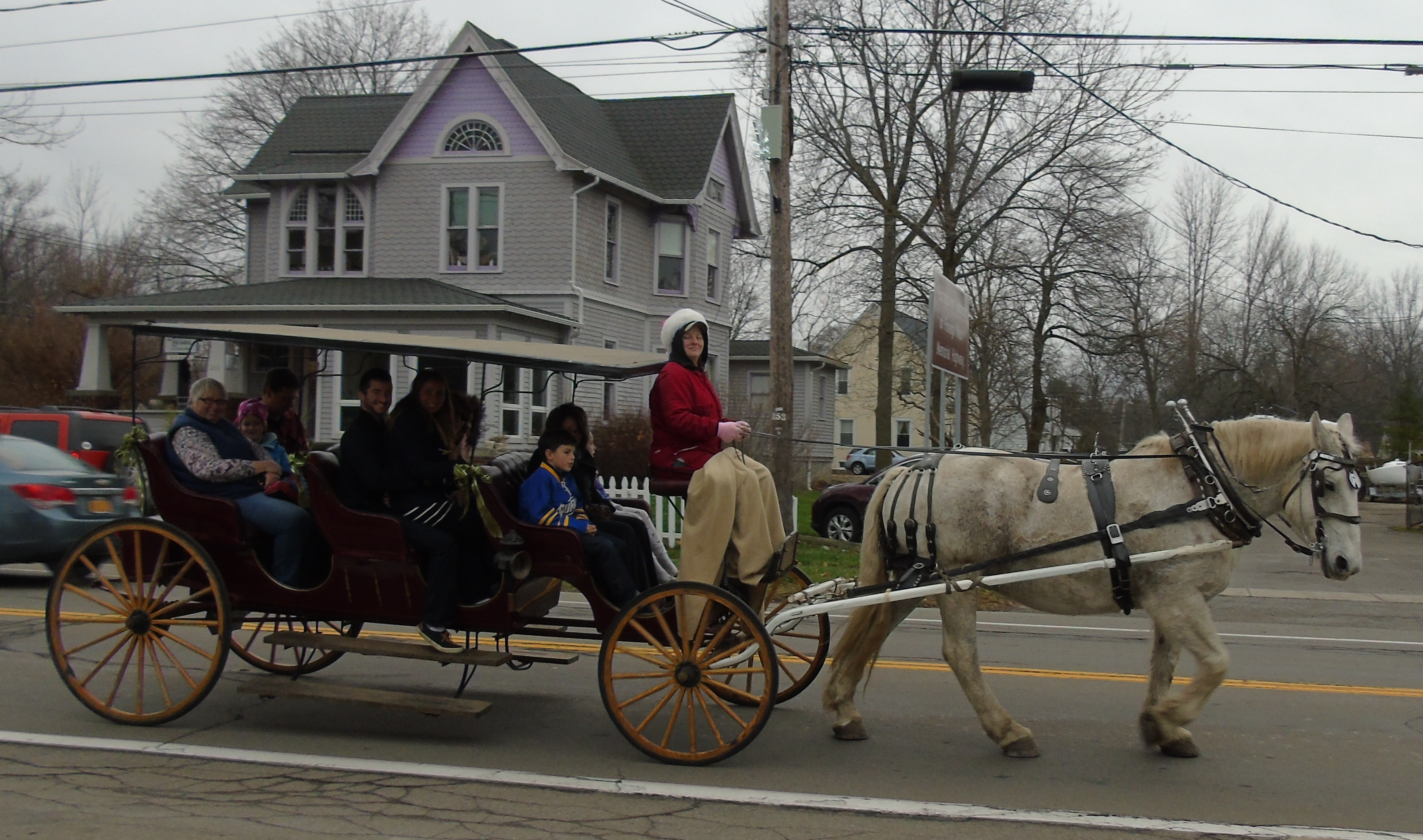 Youngstown's annual Christmas in the Village festivities feature a variety of family-friendly activities, including horse and carriage rides. (Provided photo)