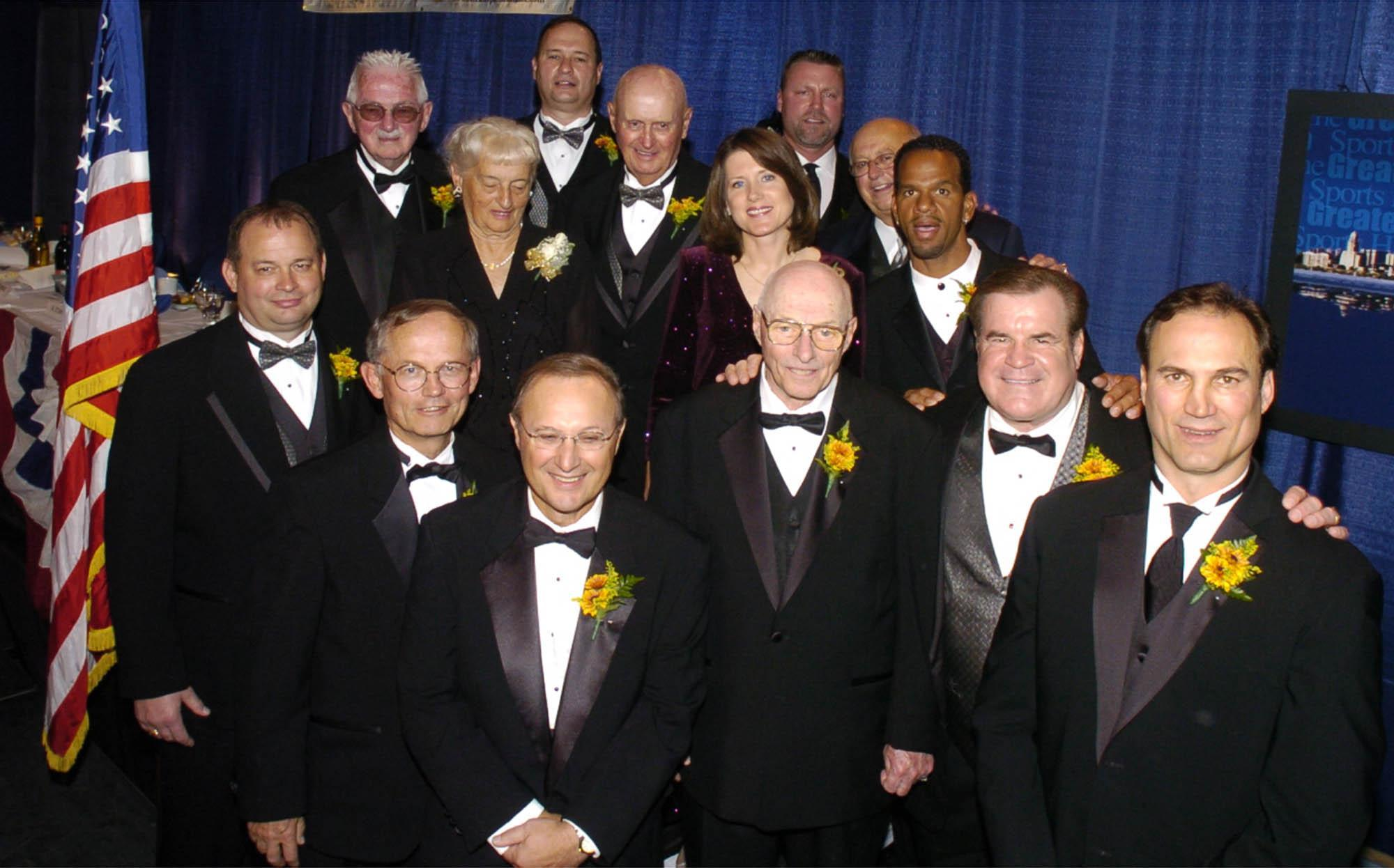 It was rare to see Bob Ivory (bottom row, middle) all dressed up as he was when he was inducted into the Greater Buffalo Sports Hall of Fame.
