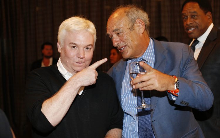 Mike Myers says his friend Shep Gordon is 'safe-averse,' not 'risk-averse.' Here the two are at a New York City fundraiser honoring the late chef Roger Vergé. (Derek Gee/Buffalo News)