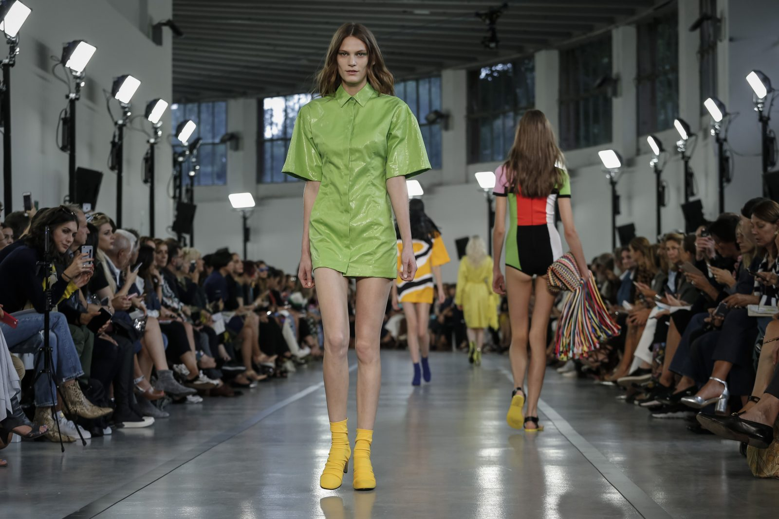 """This look from Emilio Pucci's spring 2017 collection during Milan Fashion Week is what the color """"greenery"""" looks like. (Valerio Mezzanotti/The New York Times)"""