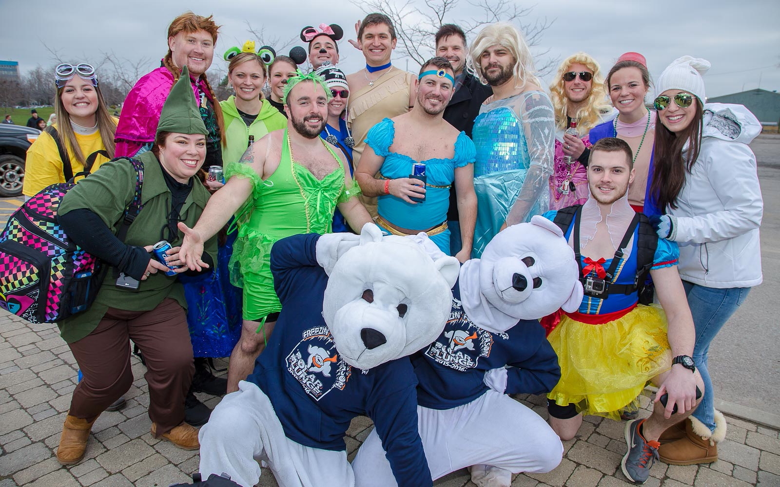 Smiling faces and costumes at the 2015 Polar Plunge at Woodlawn Beach. (Don Nieman/Special to The News)
