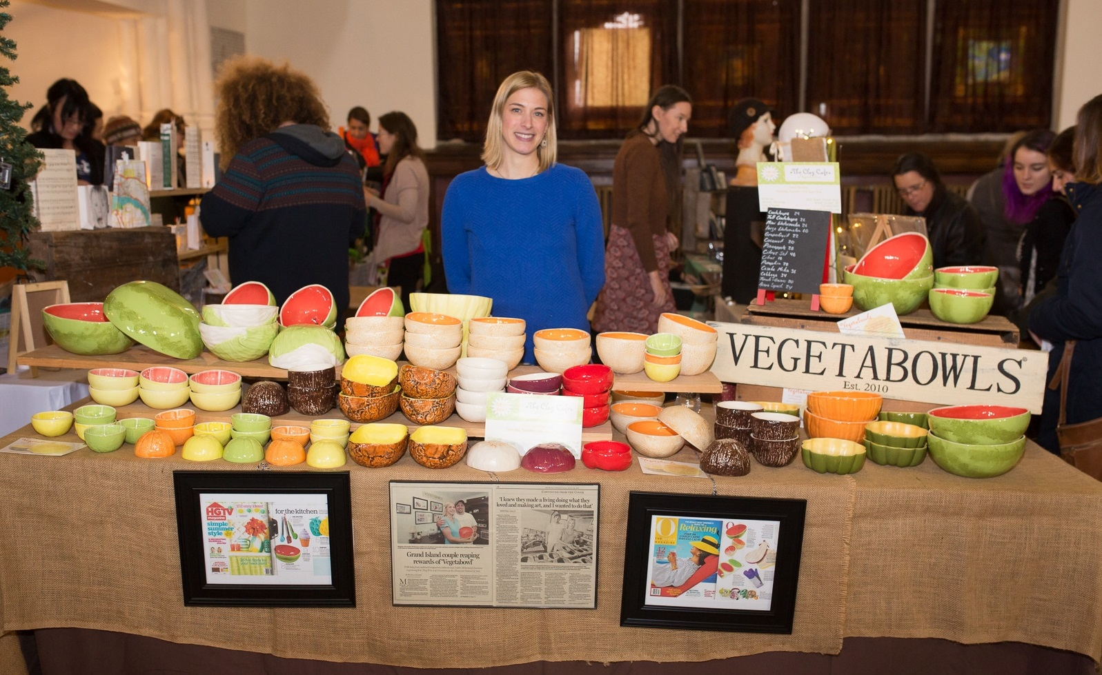 A peek at Vegetabowls' booth at the 2015 Queen City Market. (Chuck Alaimo/Special to The News)