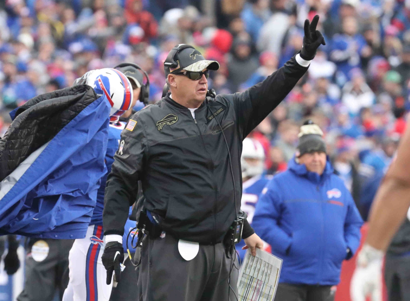 Rex Ryan calls for a two-point conversion in a game against the Jacksonville Jaguars (James P. McCoy/Buffalo News)