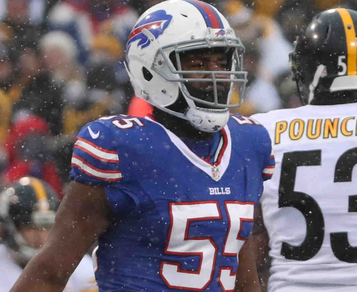 Jerry Hughes thinks the Bills will benefit from going back to a base 4-3 defensive scheme. (James P. McCoy/Buffalo News)