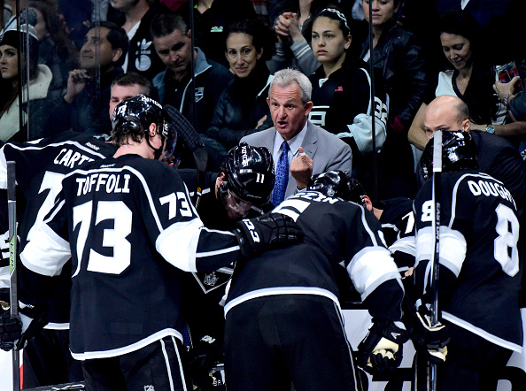 Coach Darryl Sutter and the Los Angeles Kings open a nine-game road trip Tuesday in Buffalo (Getty Images).