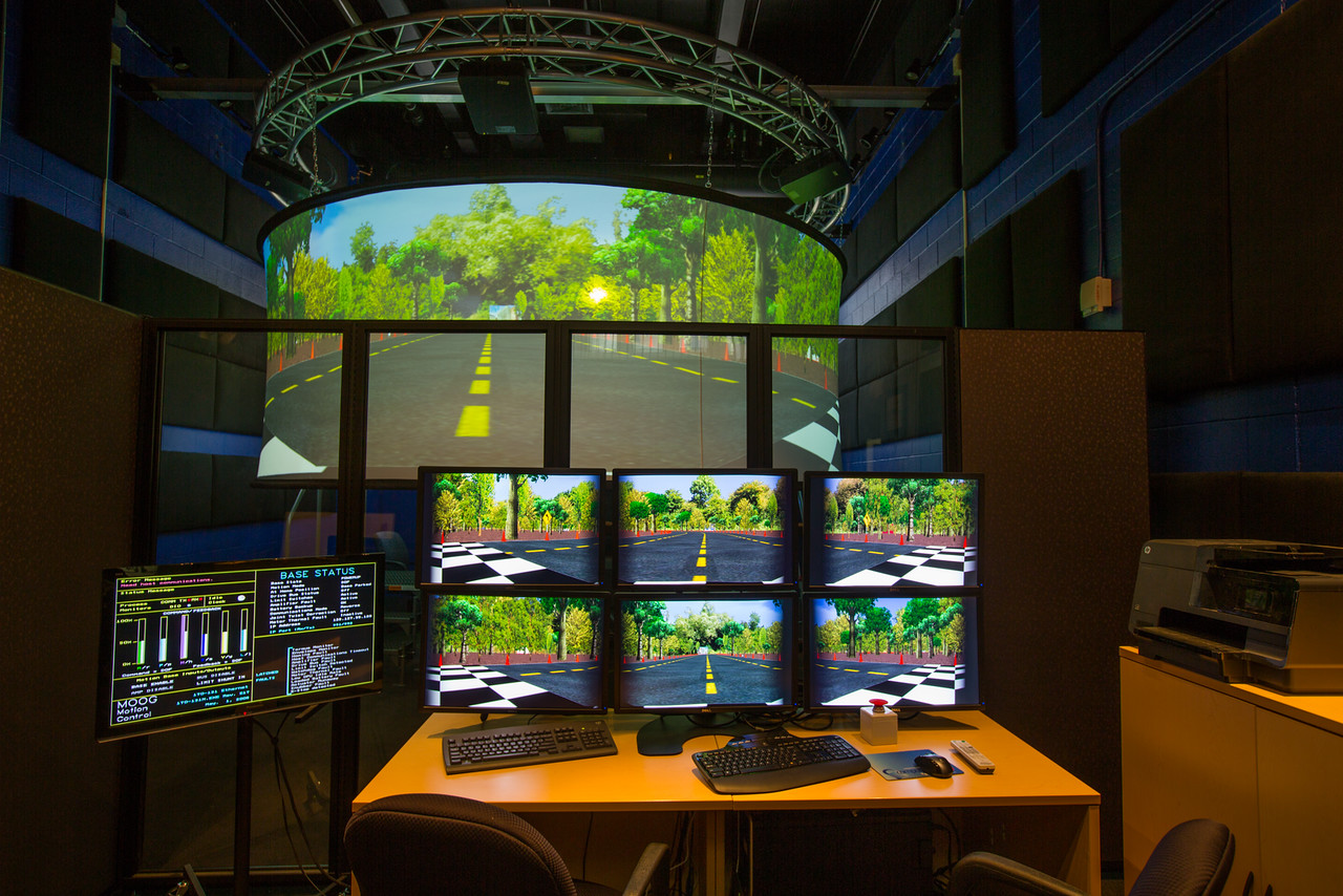 The University at Buffalo's Driving Simulator, located in Furnas Hall on North Campus (provided by UB).