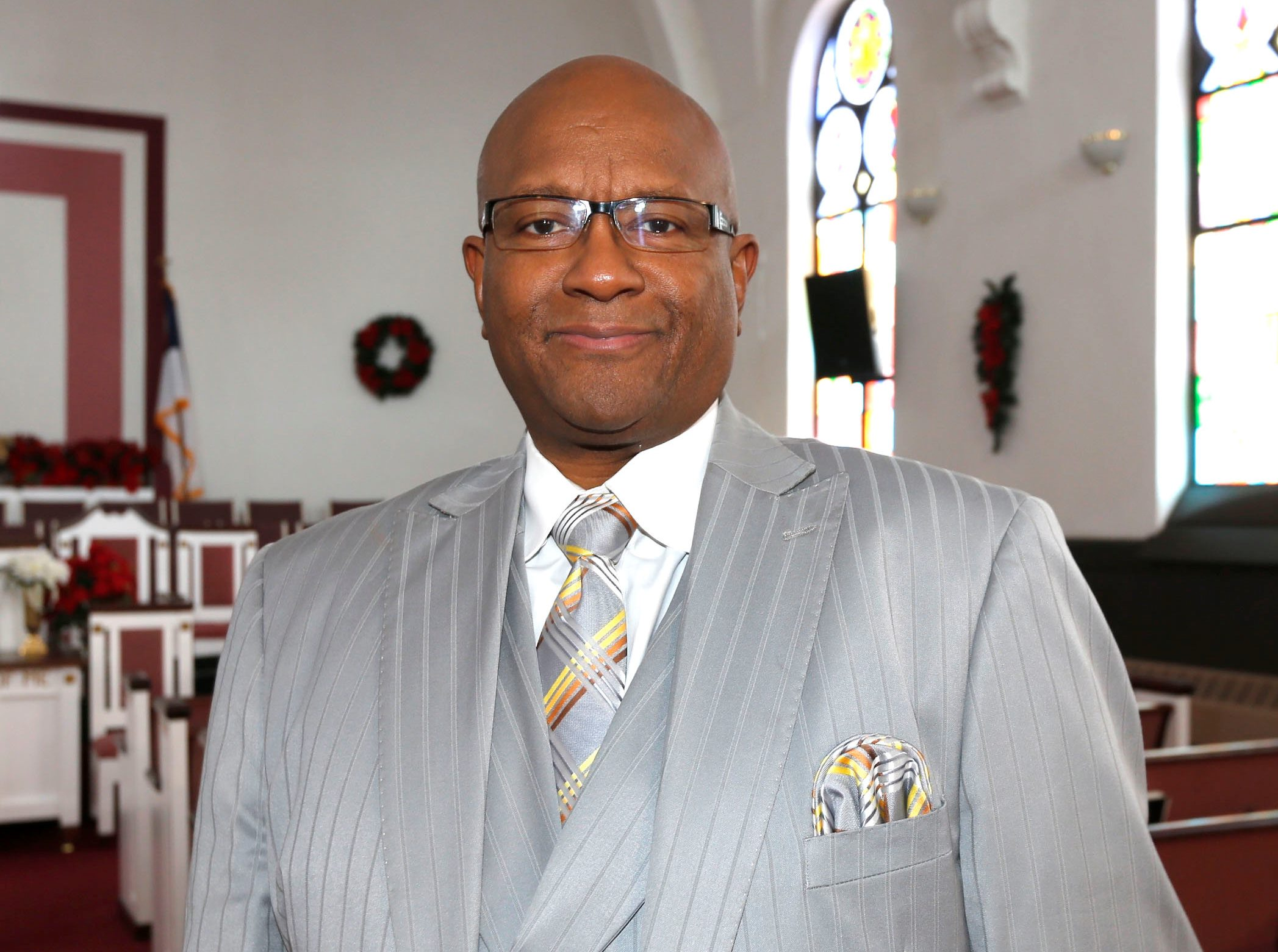 Rev. Mark E. Blue, pastor of Second Baptist Church in Lackawanna, is the new president of the Buffalo Branch of the NAACP. (Robert Kirkham/Buffalo News)
