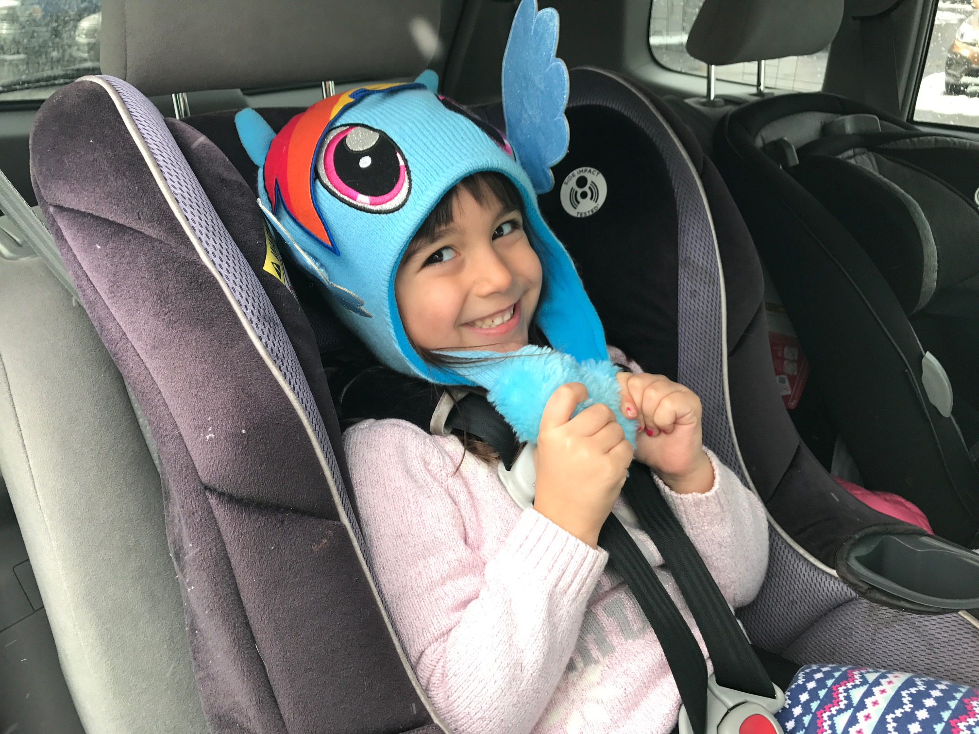 Puffy coats should be taken off before kids are strapped in to car seats. (Mary Friona-Celani/Special to The News)
