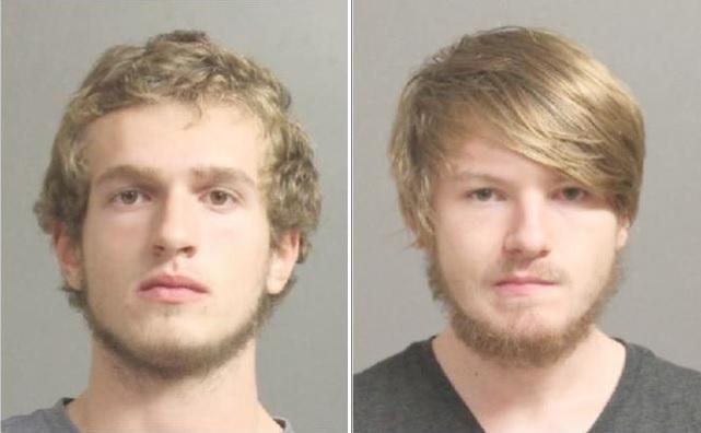 Justin Giesler, 18, of Elma, left, and Luke Brennan, 18, of Arcade. (Erie County Sheriff's Office)