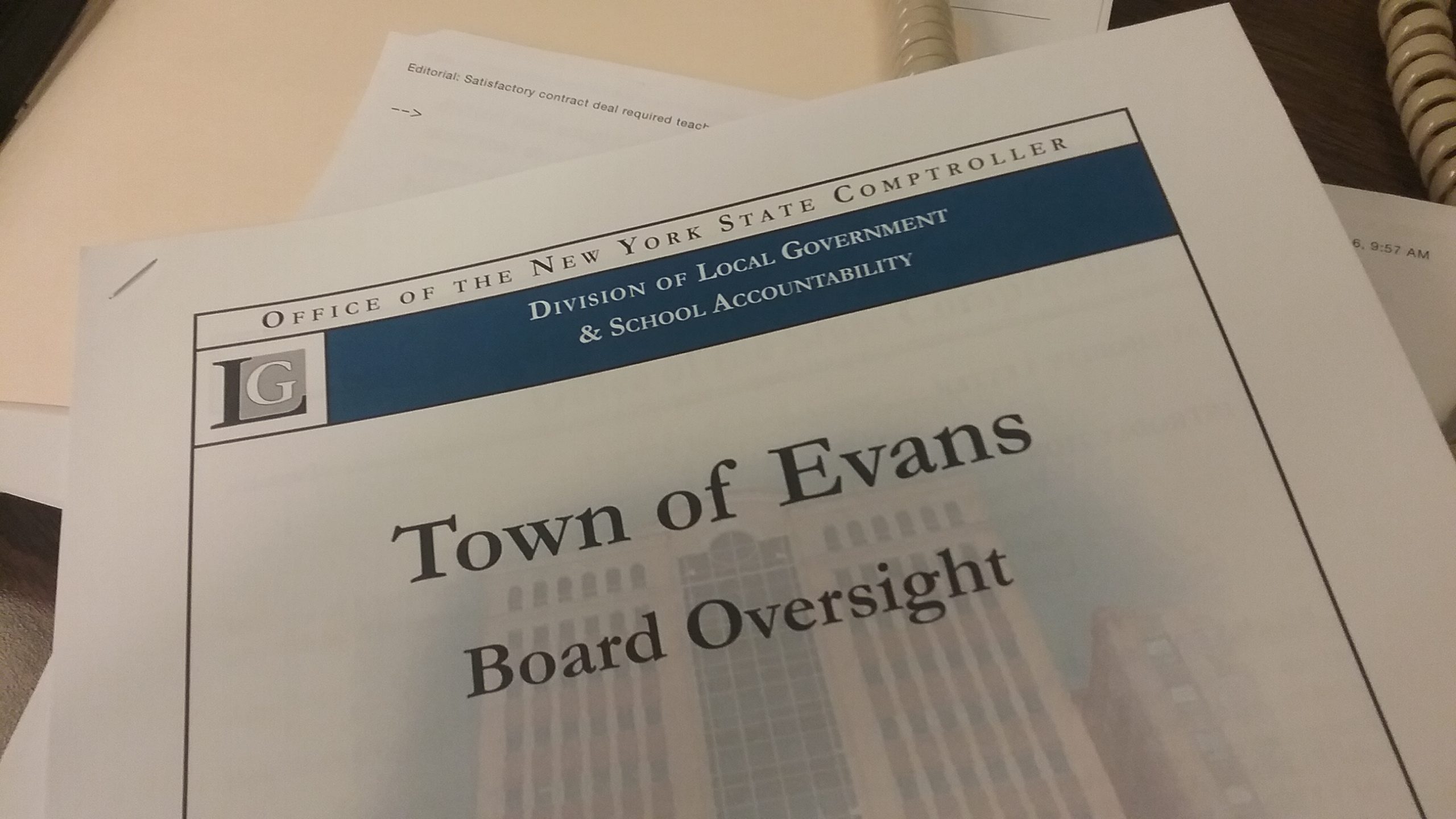 Erie County is making an emergency loan to the Town of Evans, where years of fiscal mismanagement has left it otherwise unable to pay its bills.
