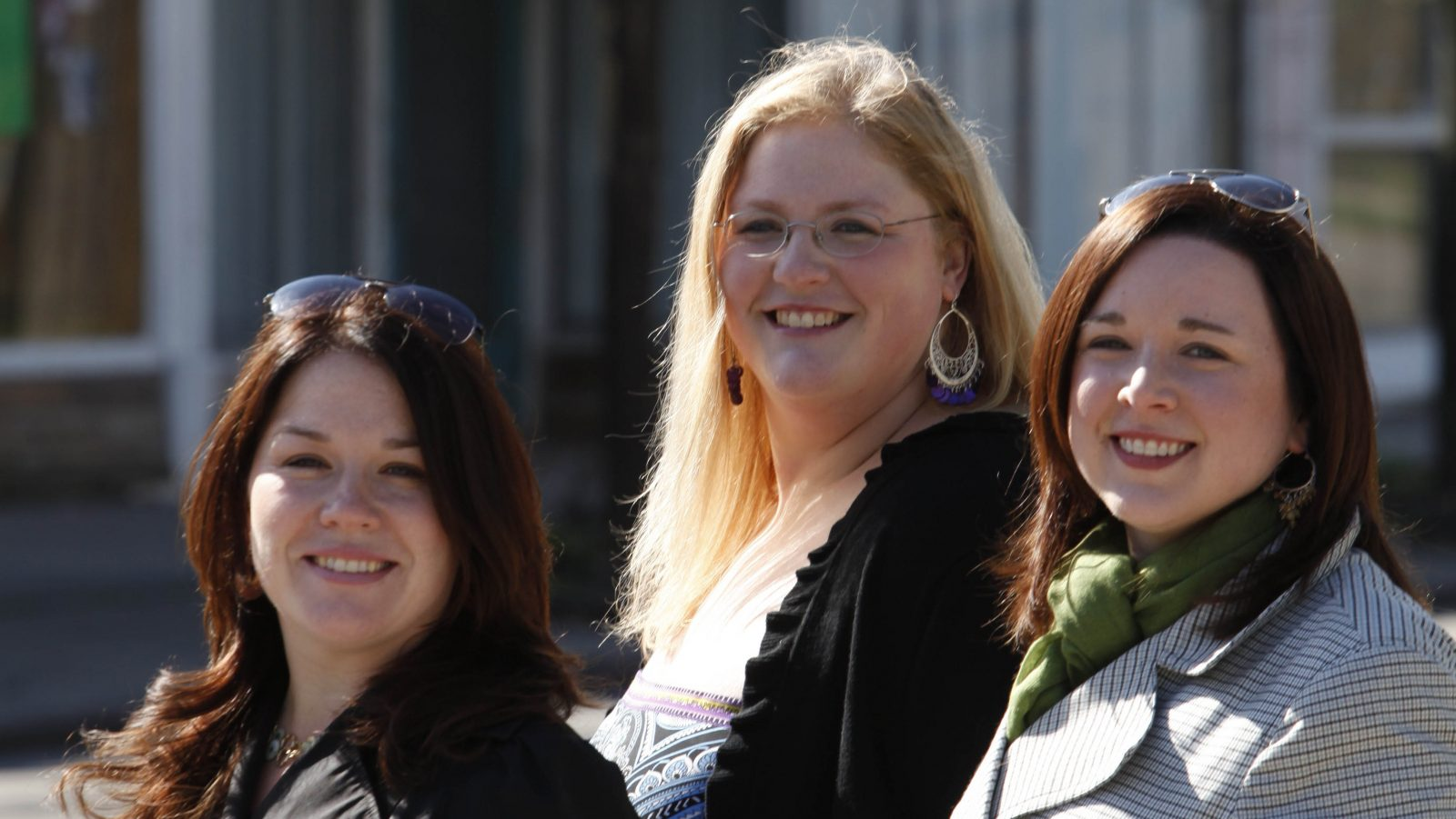 From left, Kelly Audette, Andrea Janetzke and Mo Tarpey stand in front of the future location of Fairy Cakes Cupcakery on Parkside Avenue on May 5, 2011.  (Photo by Derek Gee / Buffalo News)