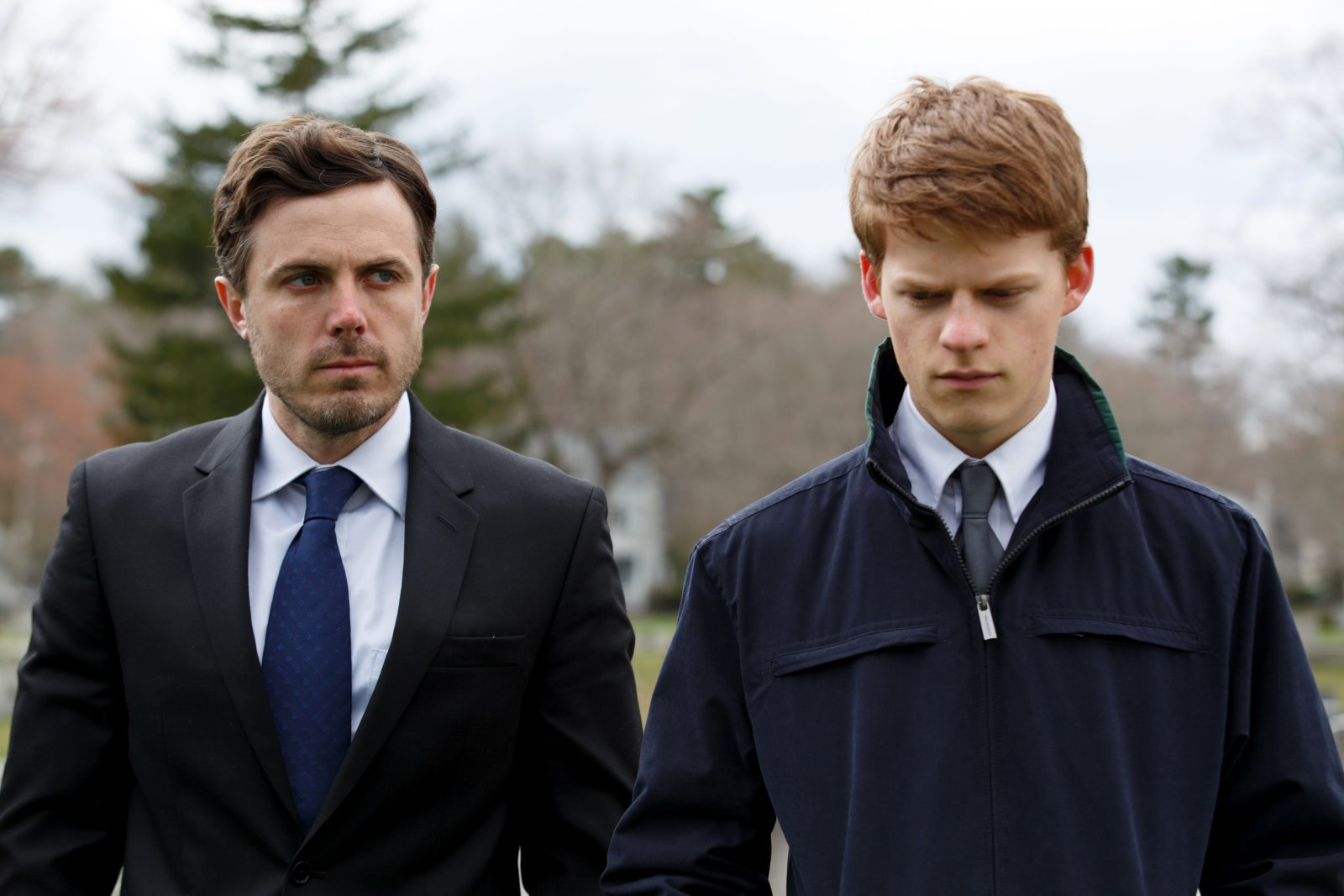 "Casey Affleck, left, and Lucas Hedges in ""Manchester By the Sea,"" a film that comes in for praise in a new book by Ann Hornaday. (Claire Folger, Amazon Studios-Roadside Attractions)"