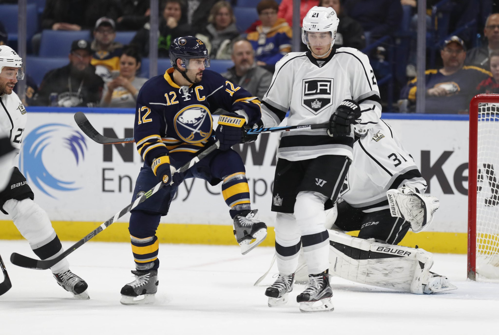 Sabres captain Brian Gionta  will play his 1,000th NHL game Monday night. (Harry Scull Jr./Buffalo News)
