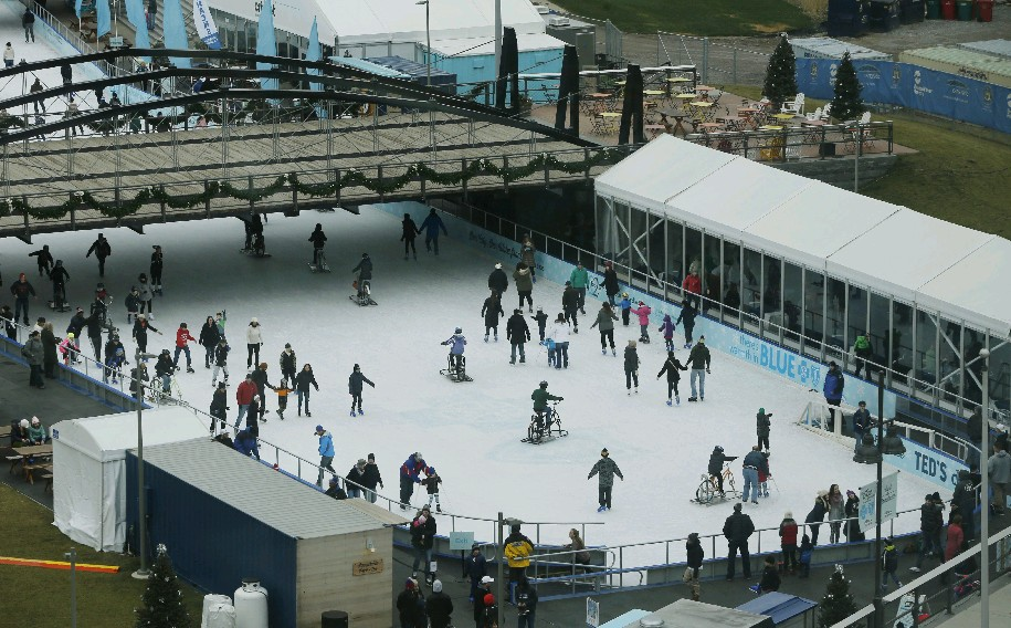 The Ice at Canalside is now open for another season. (Derek Gee/Buffalo News file photo)