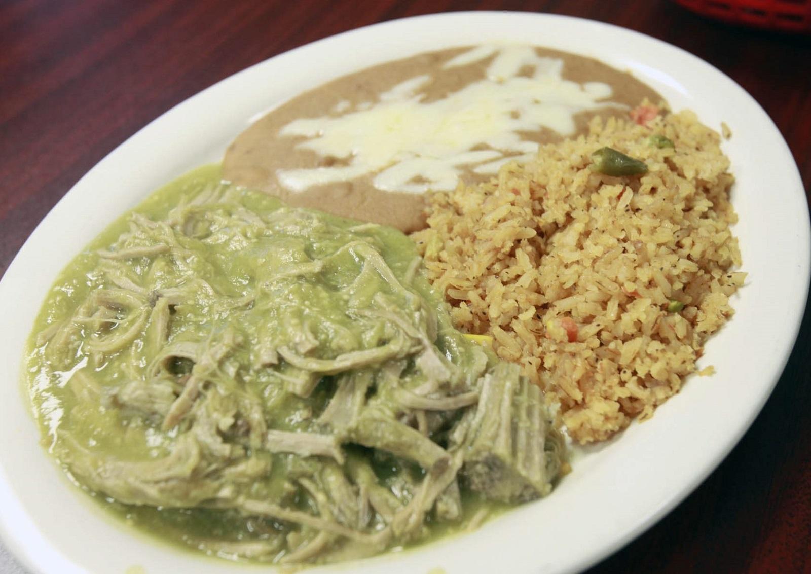 Chili verde at Mariachi de Oro in Medina. (Harry Scull Jr./Buffalo News)