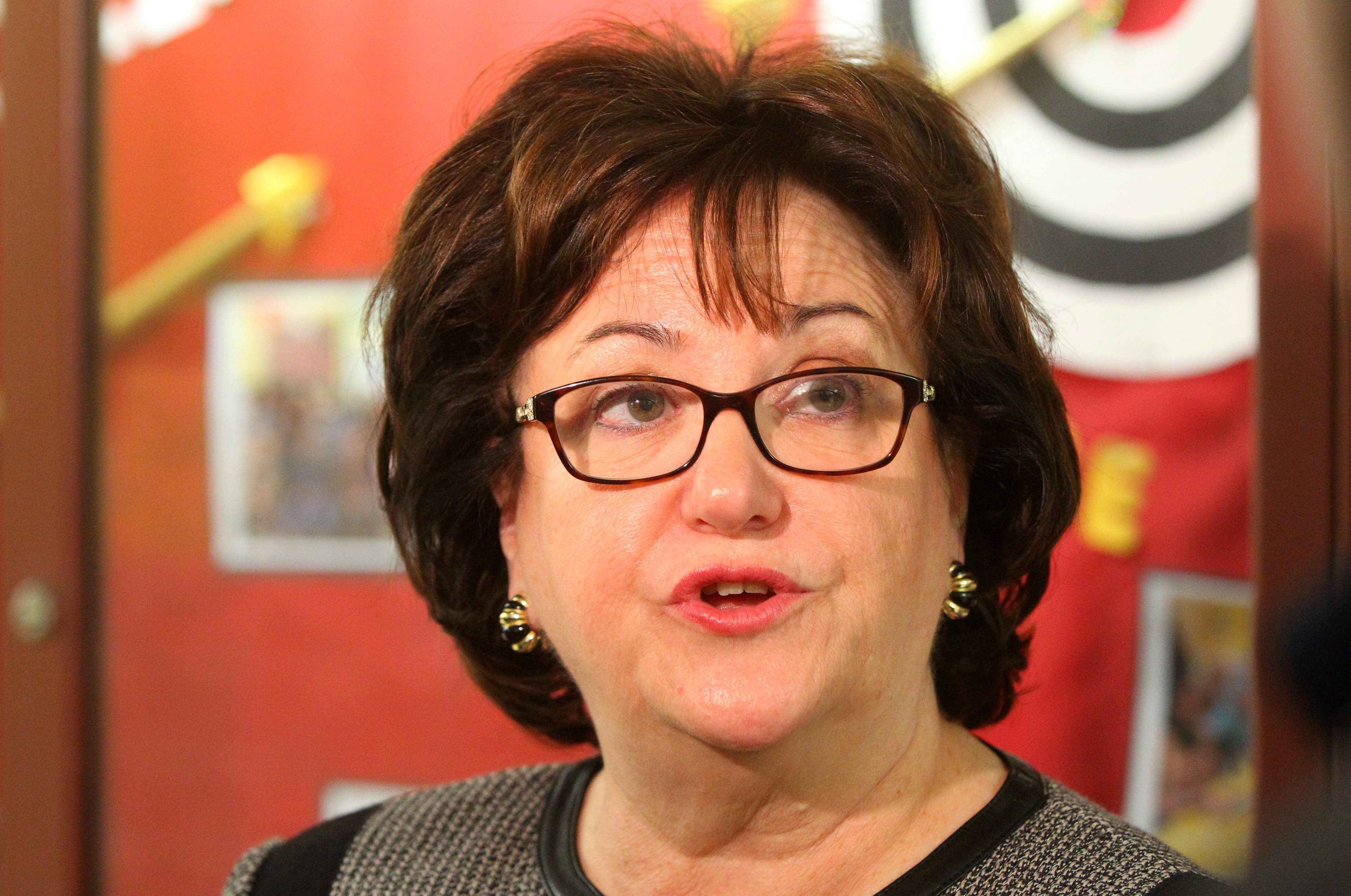 State Education Commissioner MaryEllen Elia  likes County Executive Mark Poloncarz's push for district mergers and consolidations, but notes the public has to buy in. (Mark Mulville/Buffalo News)