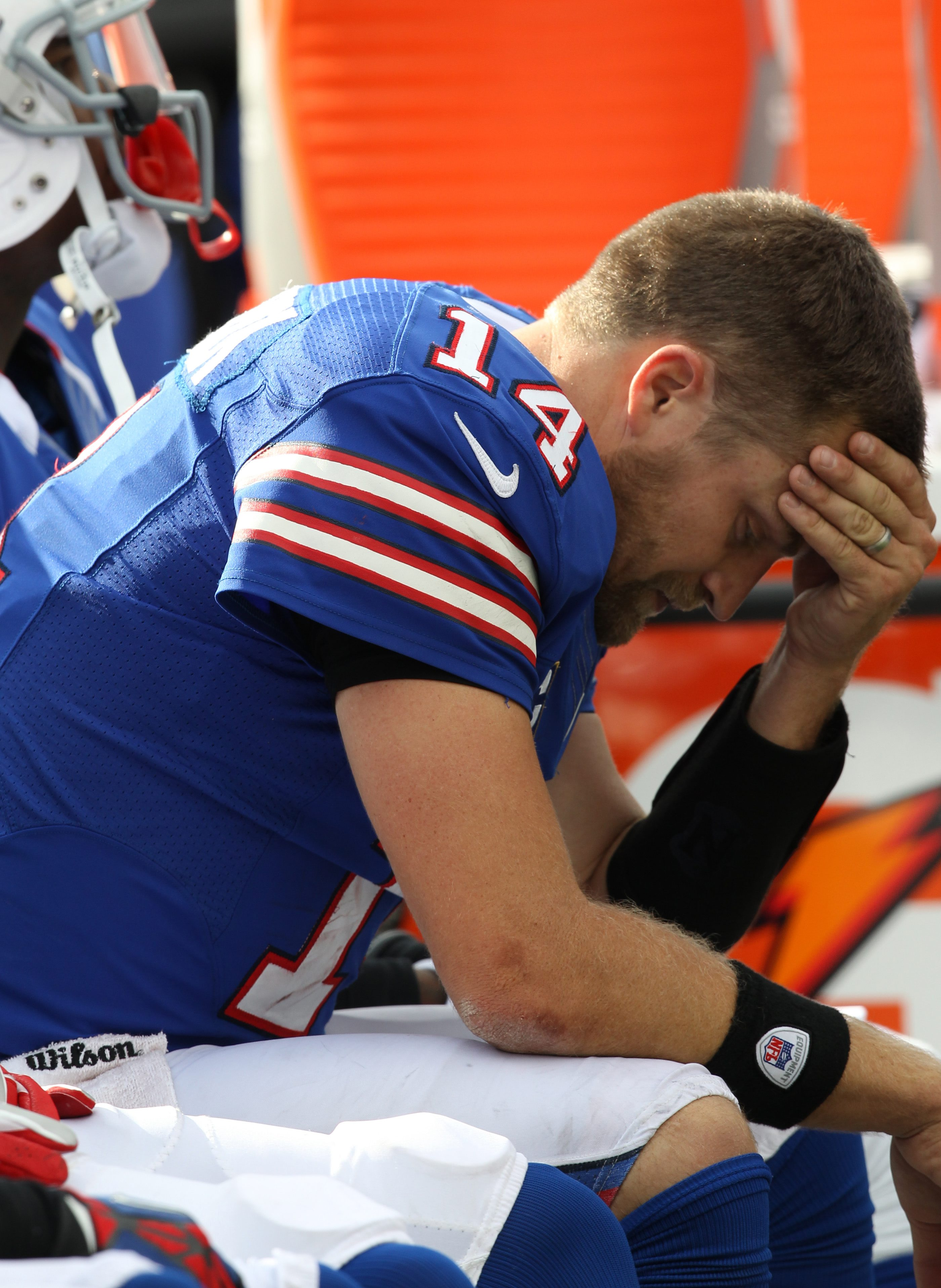 Ryan Fitzpatrick's downfall was his inability to deliver in the clutch. (James P. McCoy / Buffalo News}