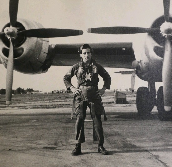 Anthony J. Queeno, shown here at Lowry Ari Force Base in Denver in 1952, flew bombing runs over  China's Chosin  Reservoir, where enemy flak turned the sky black.