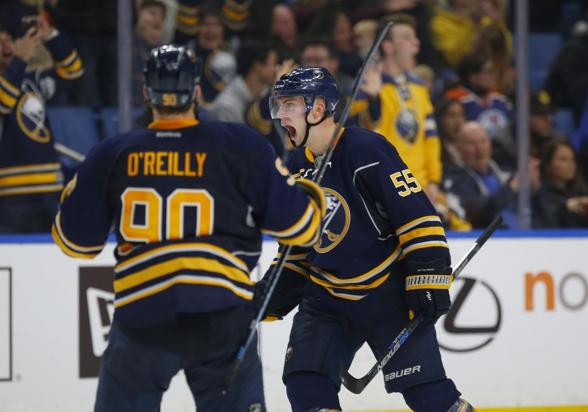 Rasmus Ristolainen scored the game-winner with 57 seconds gone in overtime. (Harry Scull Jr./Buffalo News)