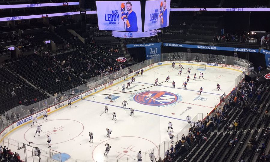 The Sabres face the Islanders in Brooklyn Friday night. (John Vogl/Buffalo News)