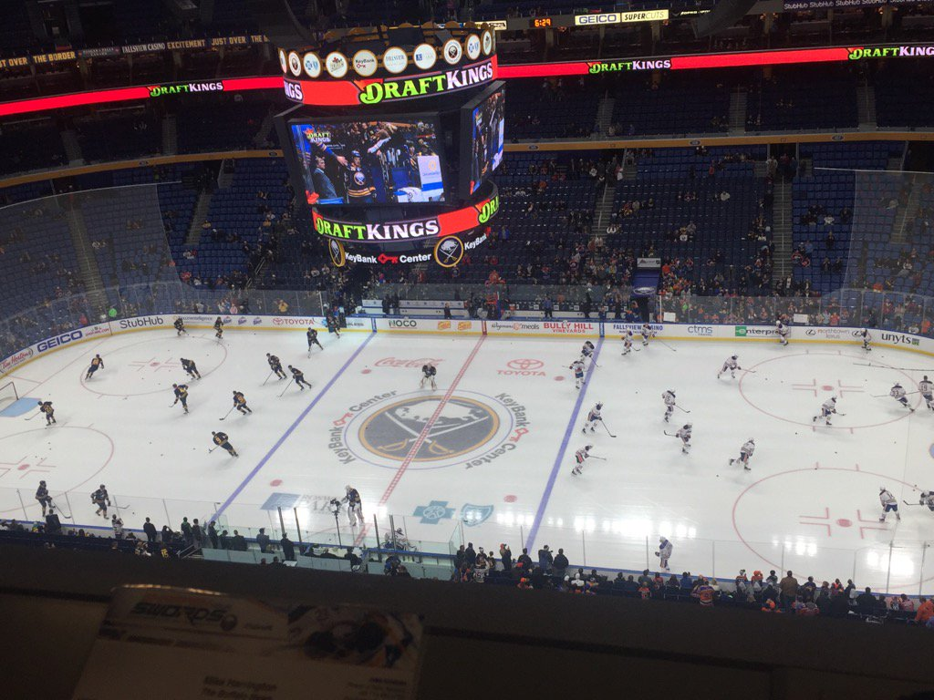 The Buffalo Sabres host the Edmonton Oilers at KeyBank Center. (Mike Harrington/Buffalo News)