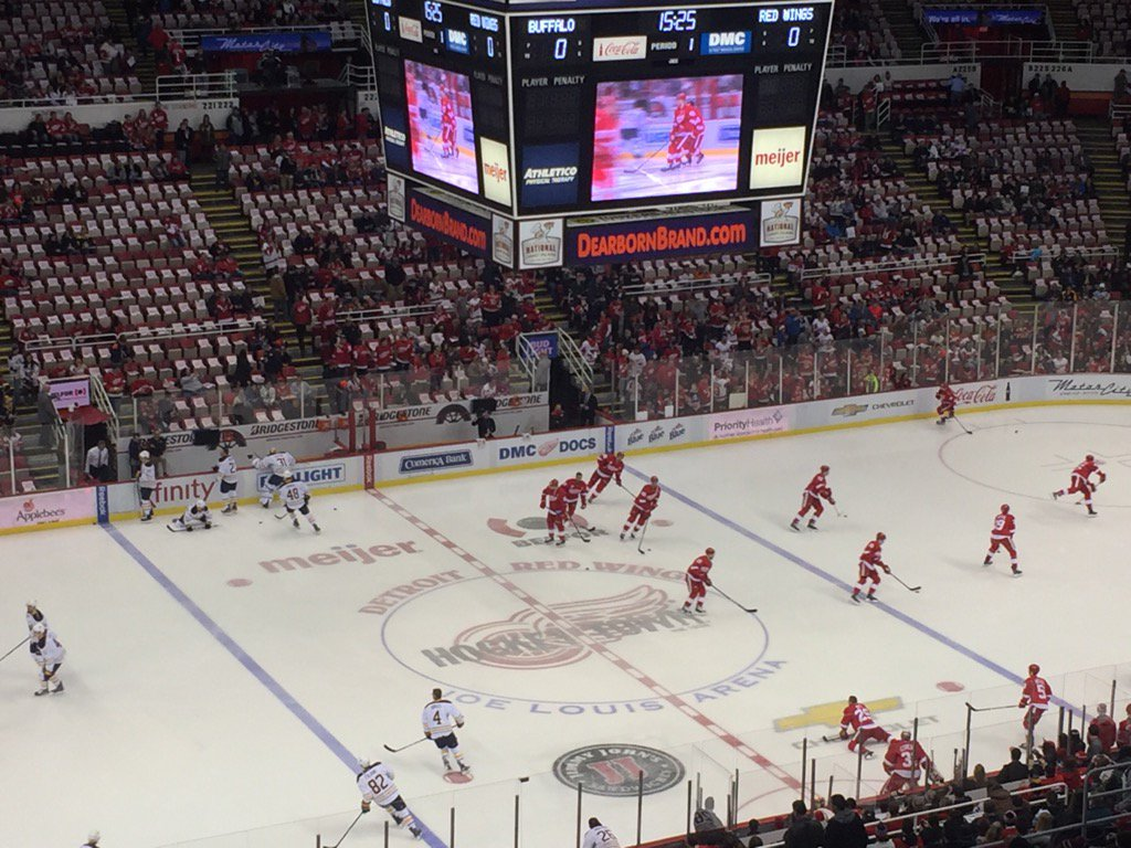 The Buffalo Sabres are in Detroit to face the Red Wings. (Mike Harrington/Buffalo News)
