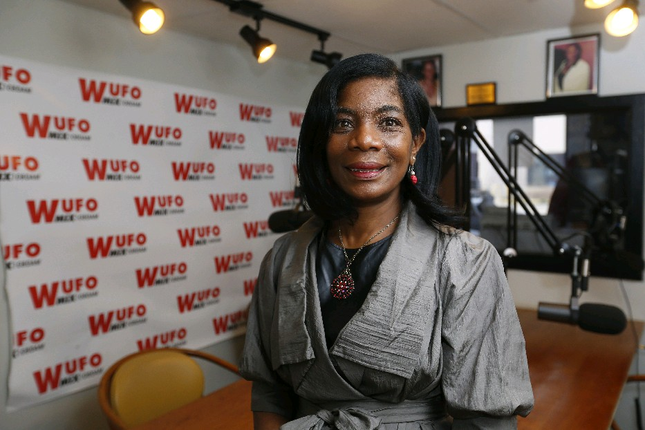 WUFO owner Sheila Brown says the move to FM and 24-hour programming puts the station on a level playing field. (Mark Mulville/buffalo News)