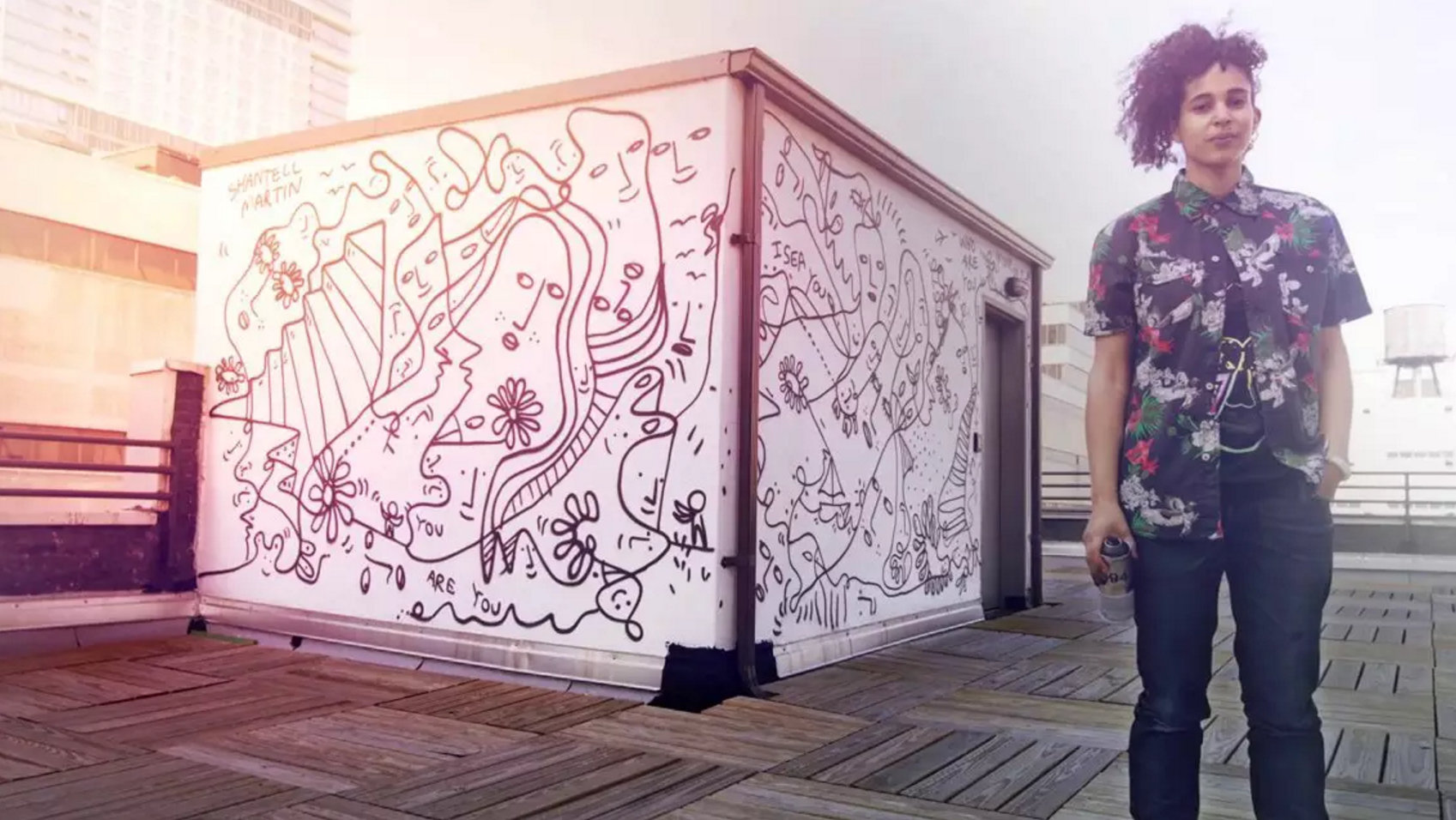 Shantell Martin, shown here in a still from a promo video for the defunct website Animal New York, will visit Buffalo next spring to complete a mural on the East Side.