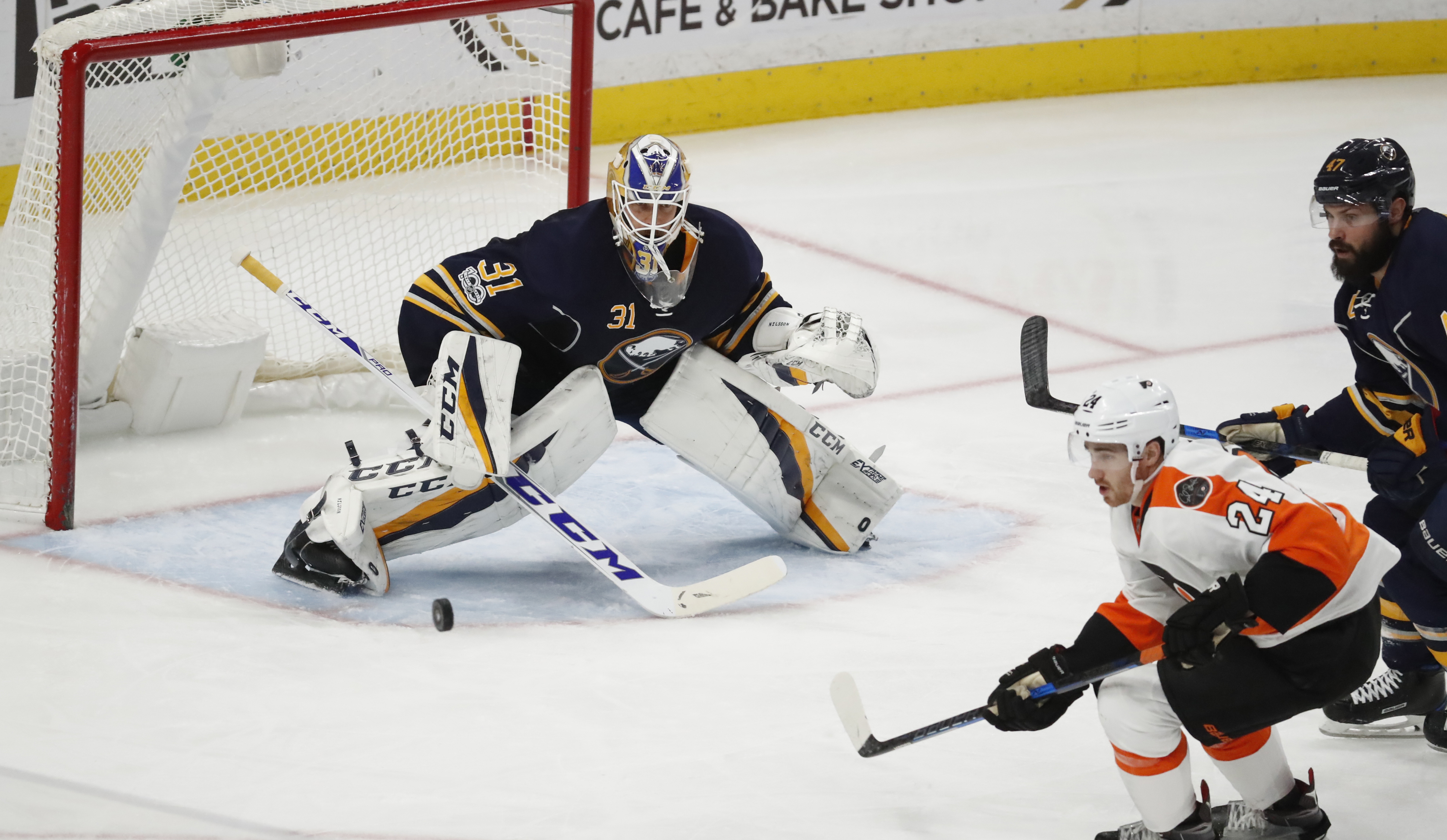 Anders Nilsson and the Sabres lost to the Carolina Hurricanes, 5-2, Friday in Raleigh, N.C. (Buffalo News file photo)