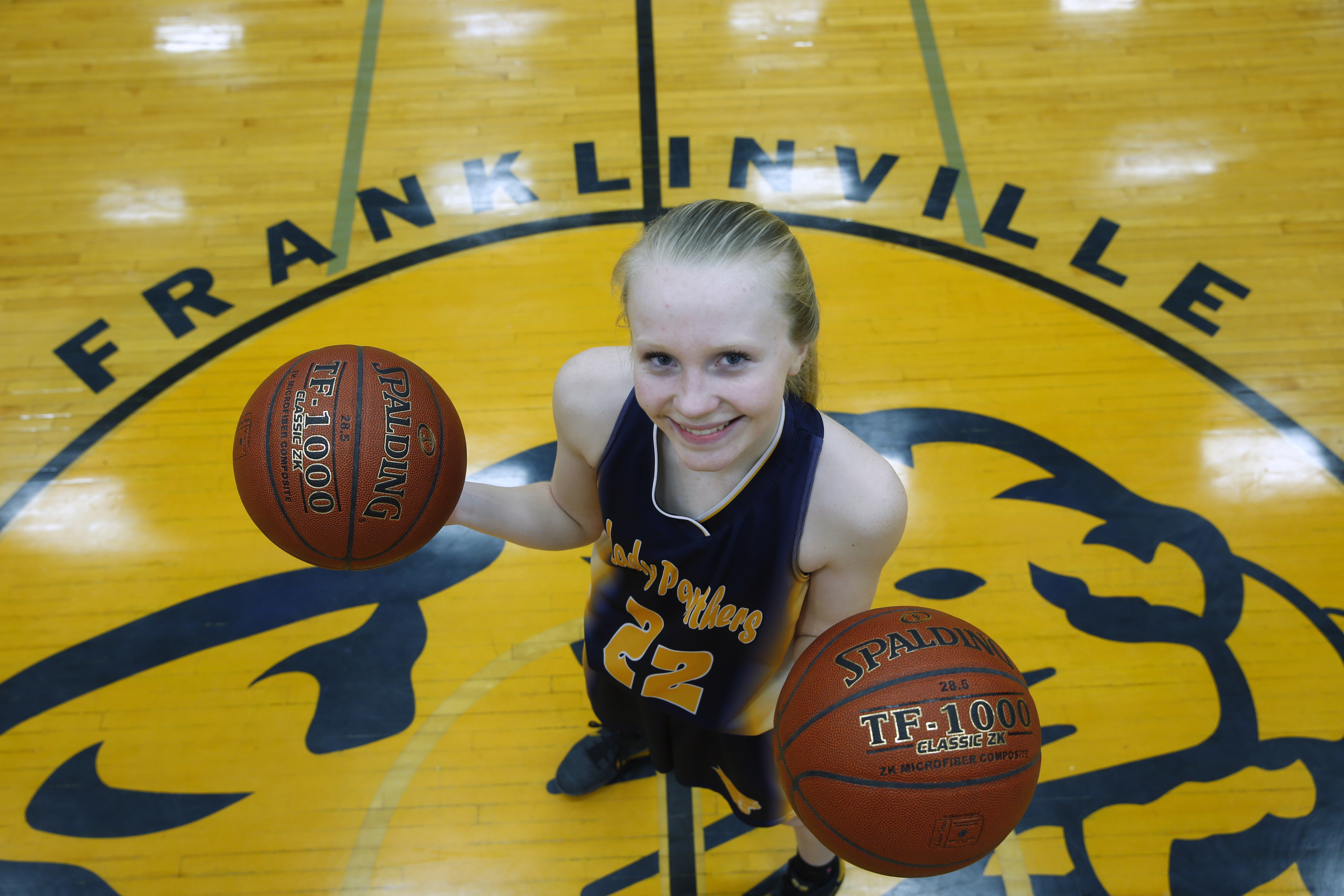 Danielle Haskell of Franklinville is the top scoring freshman in Western New York girls basketball. (Harry Scull Jr./Buffalo News)