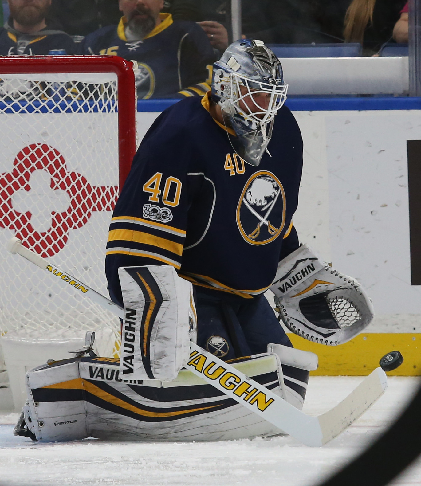 Buffalo Sabres goalie Robin Lehner was the third star of the week in the NHL. (James P. McCoy/Buffalo News)