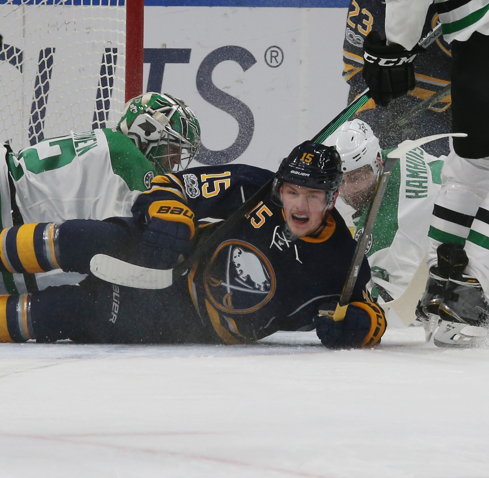 Jack Eichel could be a member of the Sabres for a very long time if the two sides work out a deal.  (James P. McCoy/Buffalo News file photo)