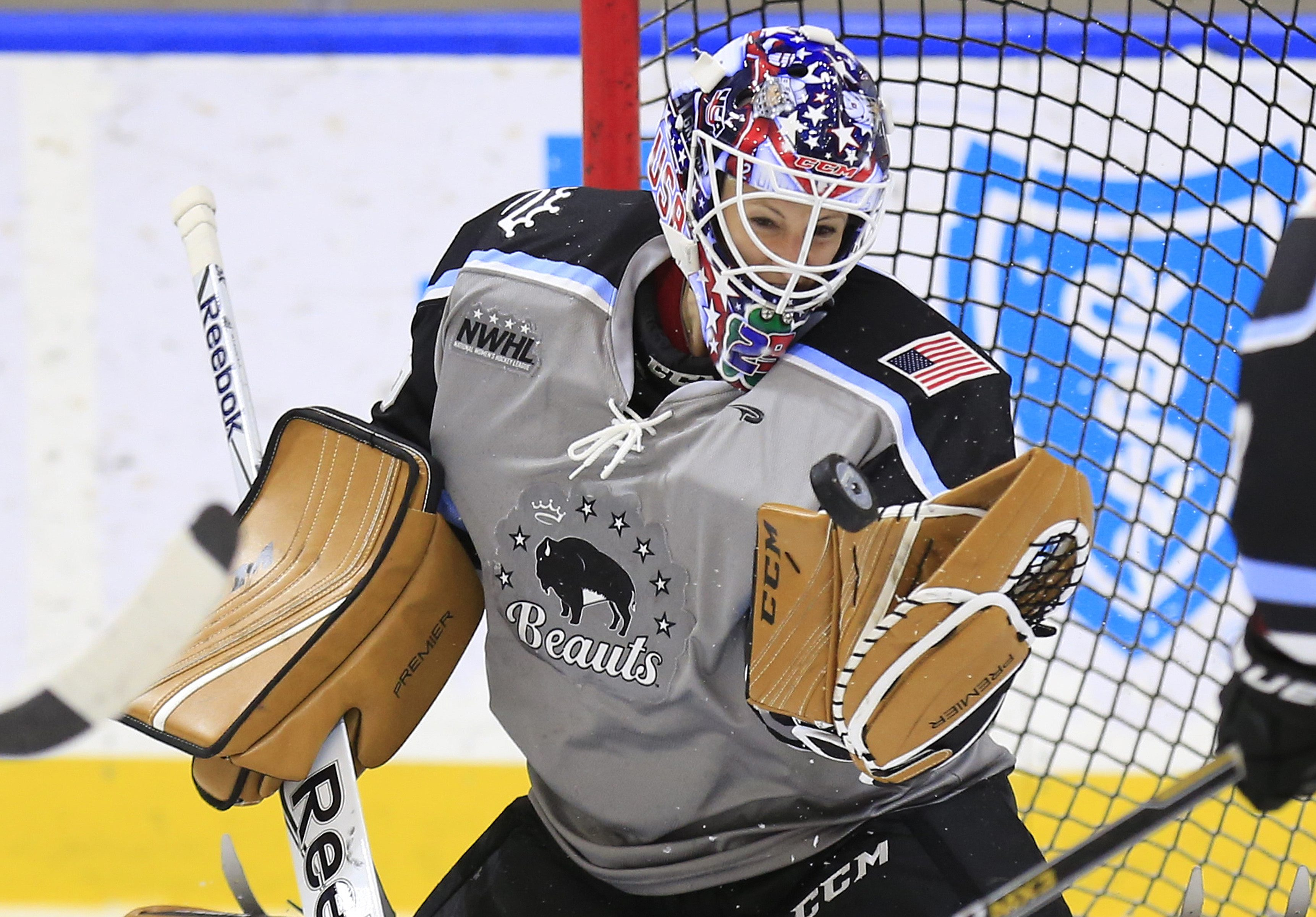 Brianne McLaughlin and the Buffalo Beauts have been idle since a 3-0 loss to the Riveters on Jan. 14. (Harry Scull Jr./Buffalo News file photo)