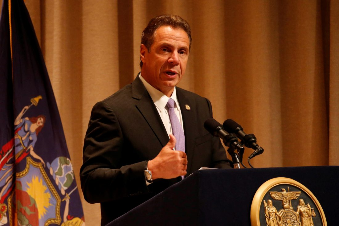 New York Governor Andrew Cuomo stakes out progressive agenda