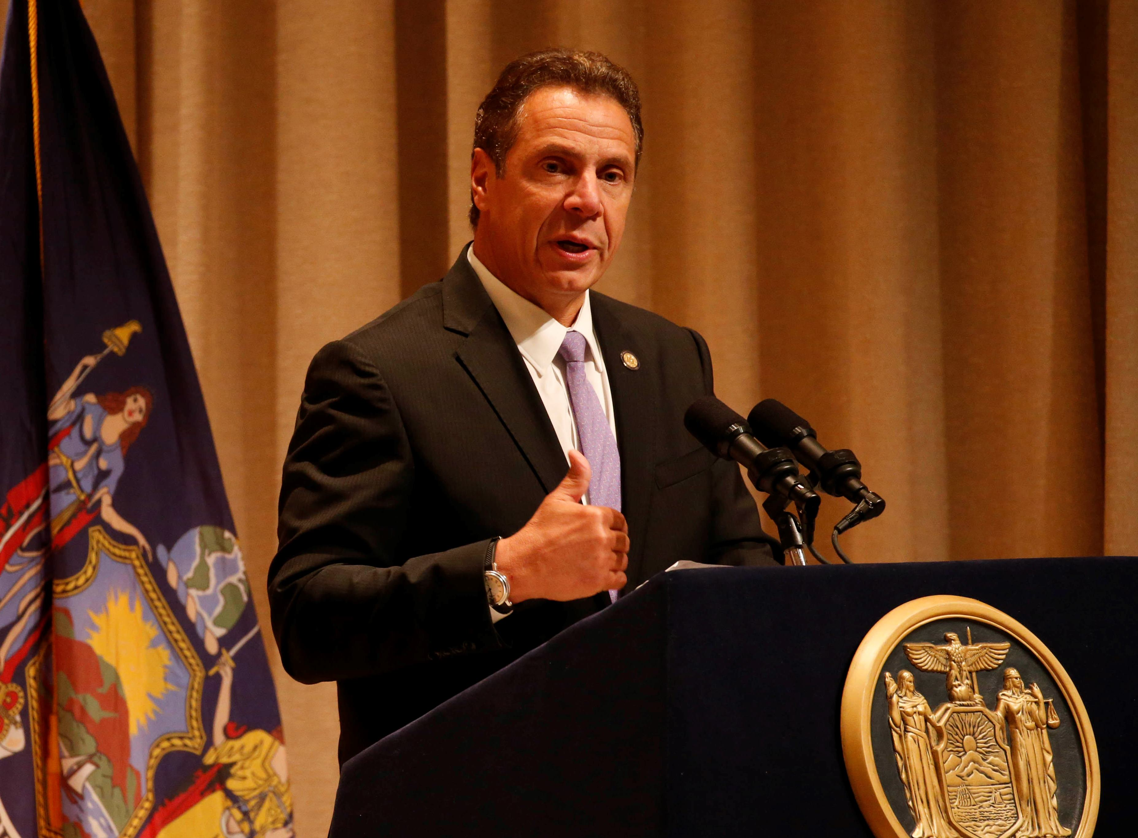 As expected, given his support for the industry during failed negotiations last year, Gov. Andrew Cuomo will again this week support bringing ride-hailing services, such as Uber and Lyft, to upstate. (Derek Gee/Buffalo News)