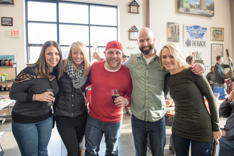 Smiles at Day-Drinking with Monks at Flying Bison Brewery