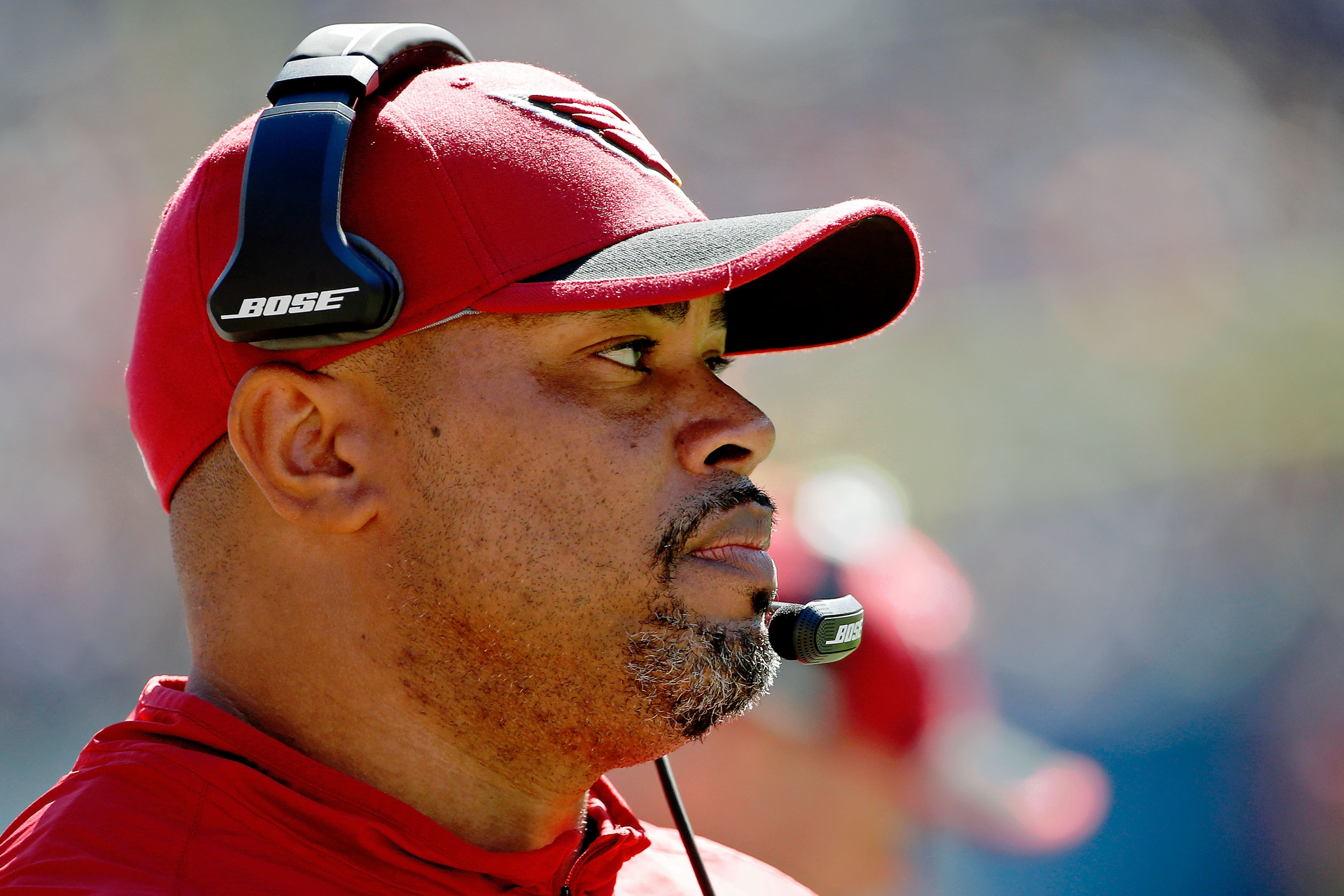 Cardinals offensive coordinator Harold Goodwin has a history with Bills General Manager Doug Whaley. (Getty Images)