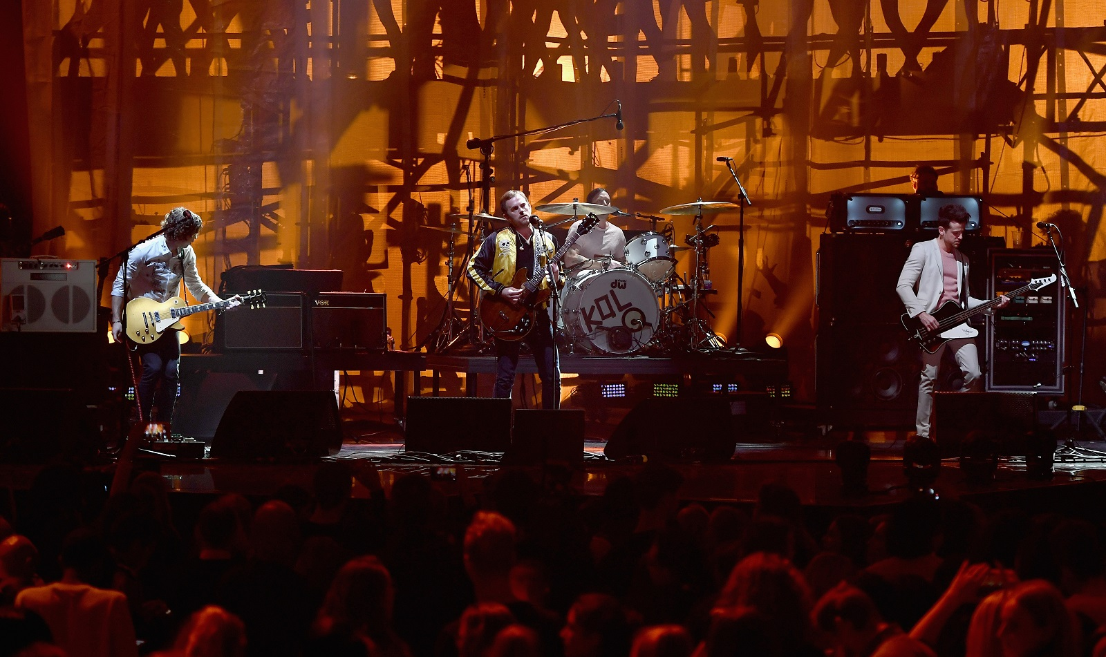 Kings of Leon, pictured performing in the Netherlands in 2016, have announced a Darien Lake date for this summer. (Getty Images)