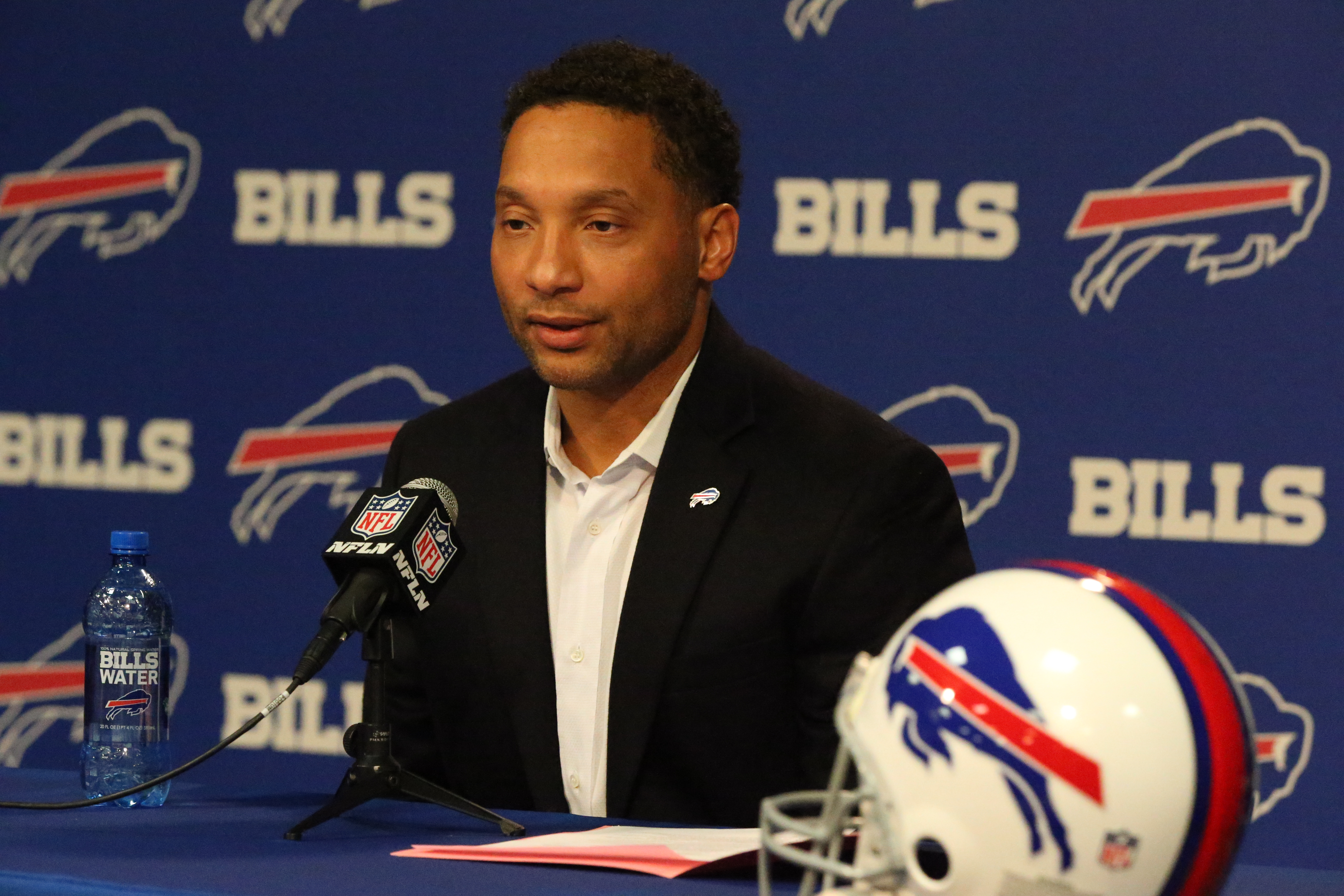 Will Doug Whaley's 'gifts' be worth it? (James P. McCoy/Buffalo News)