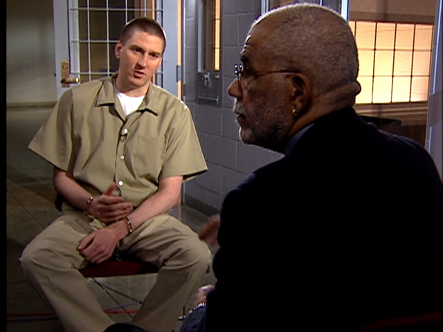 """A new documnetray on Timothy McVeigh, here being interviewed by the late Ed Bradley on """"60 Minutes,"""" will air Feb. 7 on PBS. (News file photo)"""