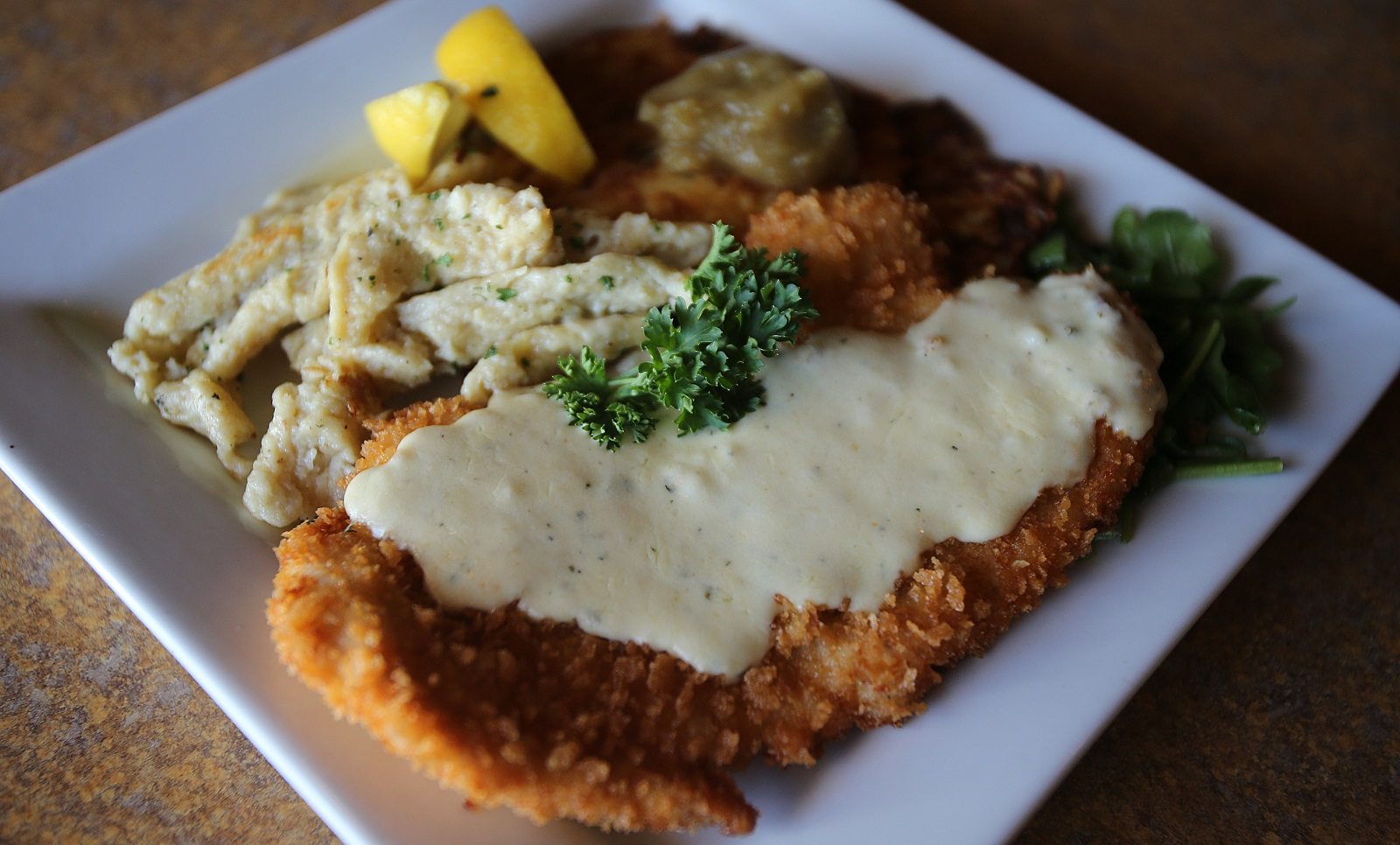 The Chicken Schnitzel from Schnitzel & Co. in Amherst, pictured in 2014. (Buffalo News file photo)