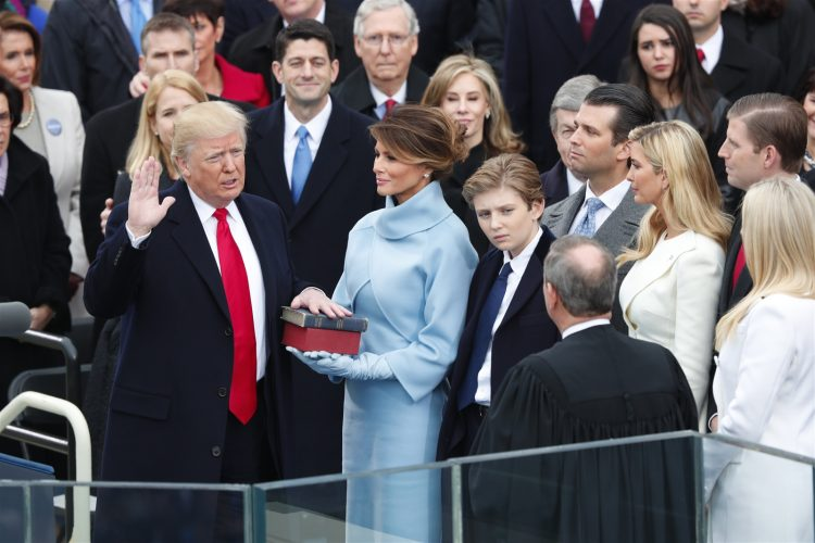 At inauguration, Trump casts day as restart for American politics