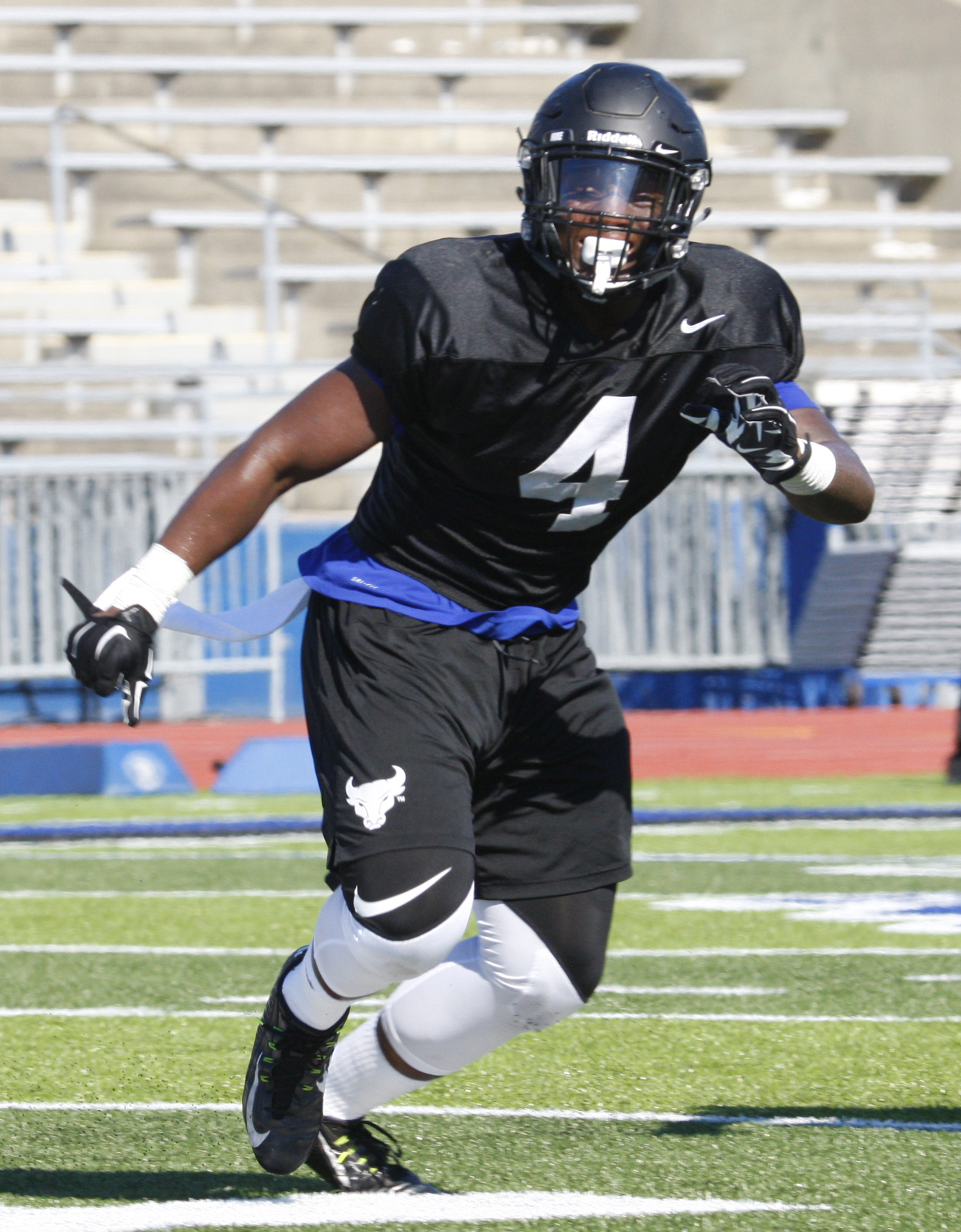Khalil Hodge is the stopper at MLB for UB. (Harry Scull Jr./Buffalo News)