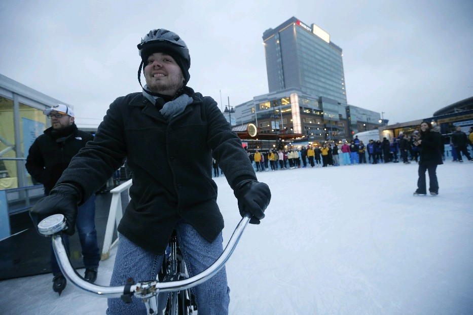 Chillabration will feature ice skating and other activities on and around The Ice at Canalside from Friday to next Monday. (Derek Gee/Buffalo News file photo)