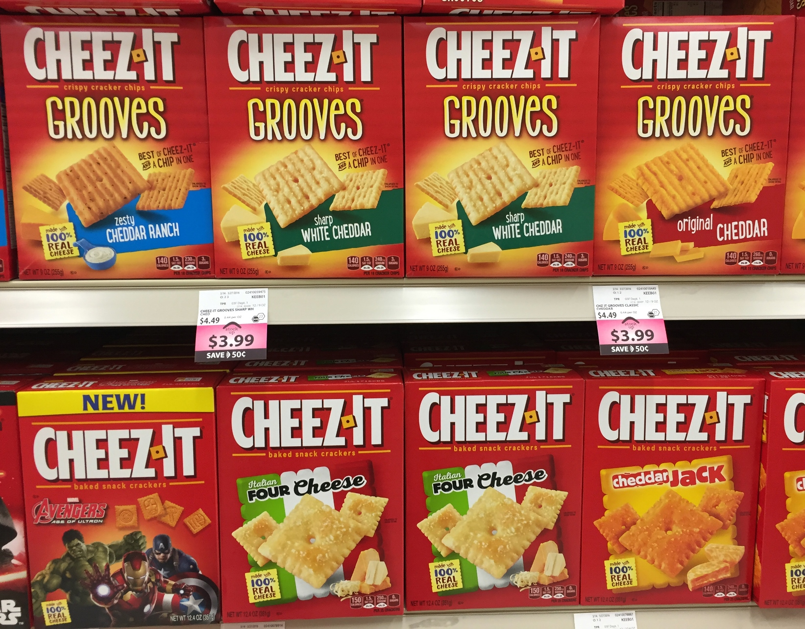 The Niagara Falls Police Department is looking for a shoplifter who fancies Cheez-It crackers.