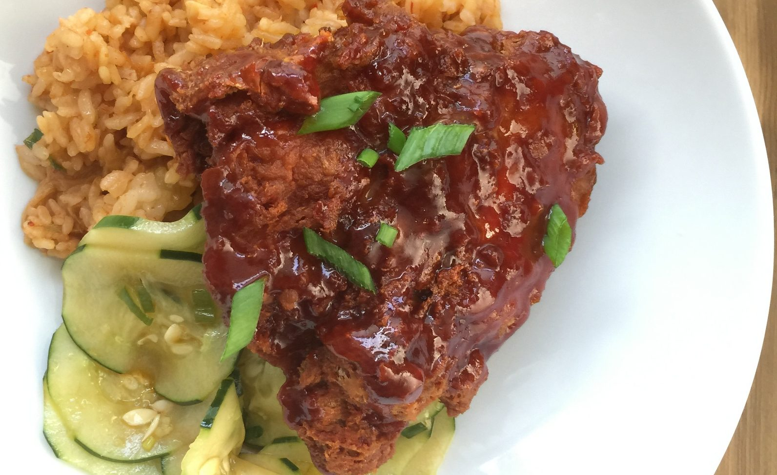 The Korean fried chicken from The Dapper Goose was a favorite. (Andrew Galarneau/Buffalo News)